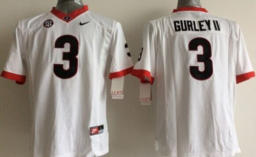 info for cd668 63b67 Bulldogs #3 Todd Gurley II White Stitched Youth NCAA Jersey