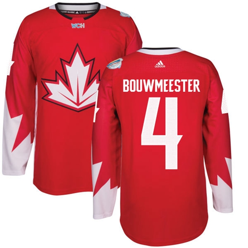 0ad1d2e44 Team Canada  4 Jay Bouwmeester Red 2016 World Cup Stitched Youth NHL Jersey