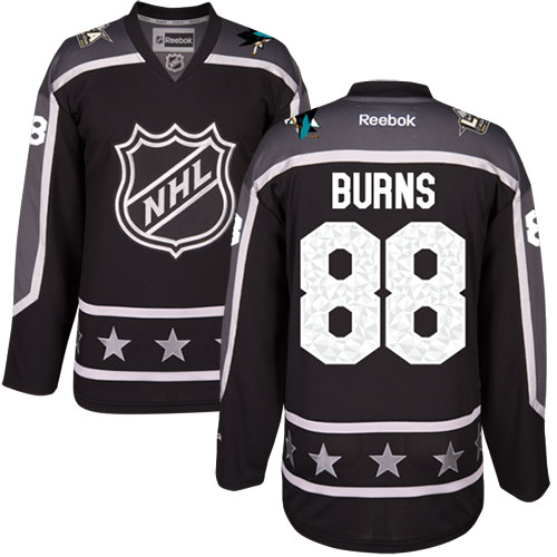 reputable site 2d455 50515 Sharks #88 Brent Burns Black 2017 All-Star Pacific Division ...